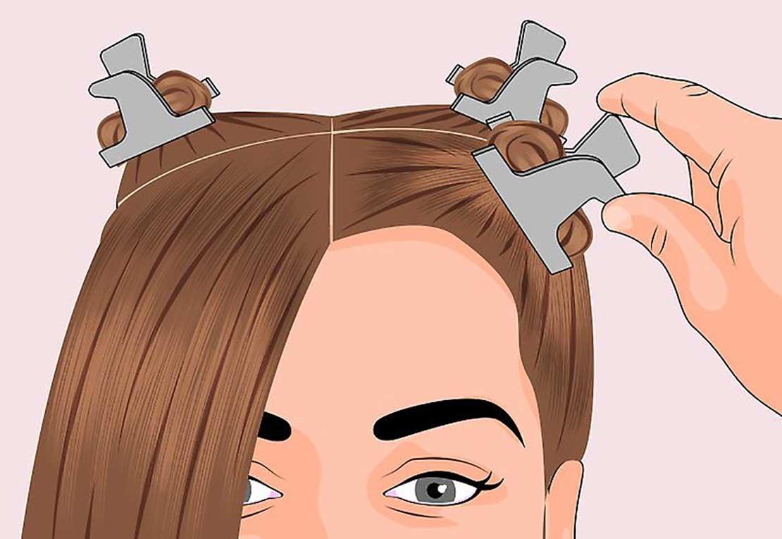 تقسیم بندی رنگ مو برای رنگ کردن مو در خانه