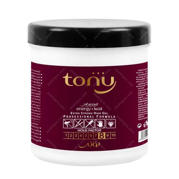 ژل موی خیلی قوی تونی حجم 750میلی لیتر کاسه ای