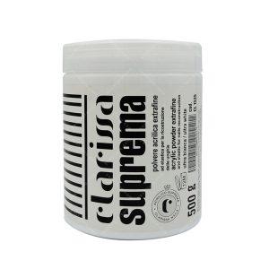 پودر کاشت ناخن کلاریسا مدل سوپریما (سفید گچی) حجم 500گرم