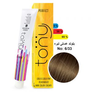 رنگ مو تونی مدل بلوند عسلی تیره شماره 6,33
