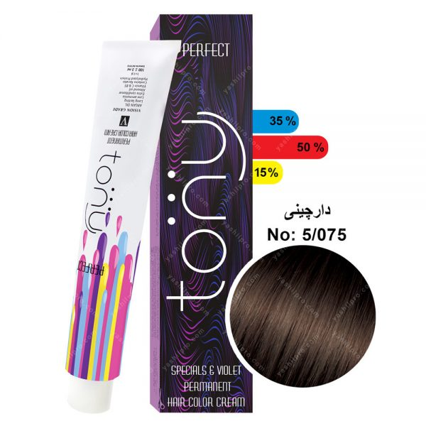 رنگ مو تونی مدل دارچینی شماره 5,075
