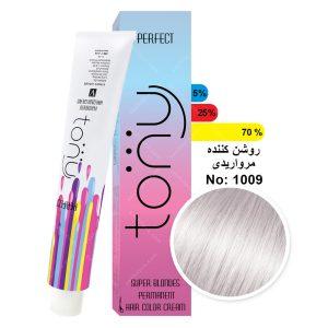 رنگ مو تونی مدل روشن کننده مرواریدی شماره 1009