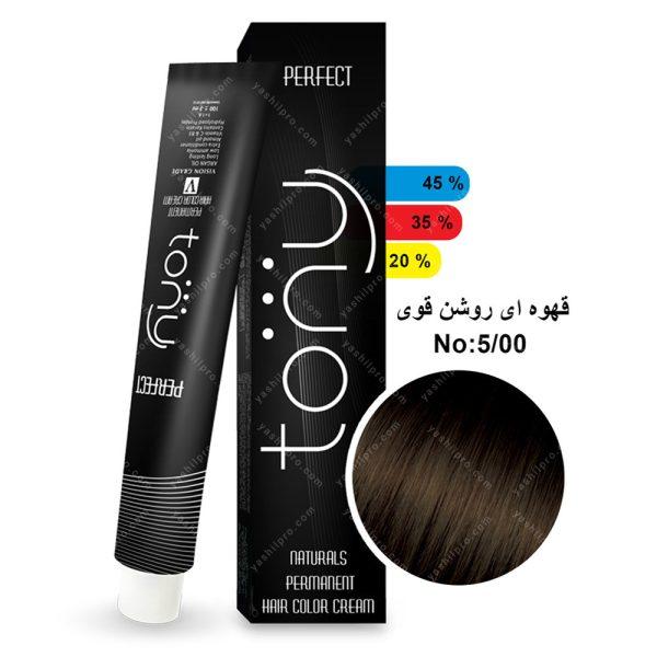 رنگ مو تونی مدل قهوه ای روشن قوی شماره 5,00
