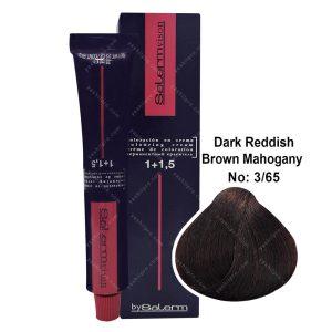 رنگ مو سالرم مدل قهوه ای ماهاگونی قرمز تیره شماره 3,65