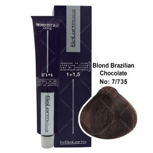رنگ مو سالرم مدل بلوند شکلاتی برزیلی شماره 7,735