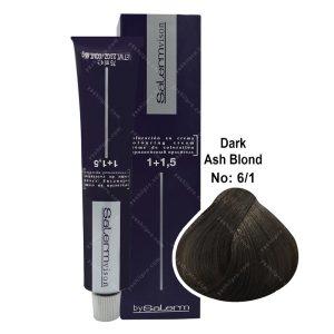 رنگ مو سالرم مدل بلوند خاکستری تیره شماره 6,1