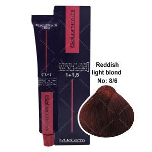 رنگ مو سالرم مدل بلوند قرمز روشن شماره 8,6