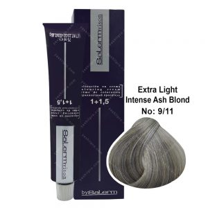 رنگ مو سالرم مدل بلوند خاکستری خیلی روشن قوی شماره 9,11
