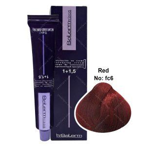 رنگ مو سالرم سری فانتزی مدل قرمز شماره FC6