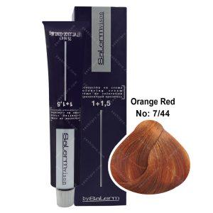 رنگ مو سالرم مدل قرمز پرتقالی شماره 7,44