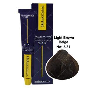 رنگ مو سالرم مدل قهوه ای بژ روشن شماره 5,31