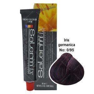 رنگ مو سالرم میکس مدل بنفش آلمانی شماره 0,95