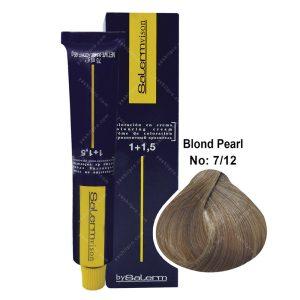 رنگ مو سالرم مدل بلوند مرواریدی متوسط شماره 7,12