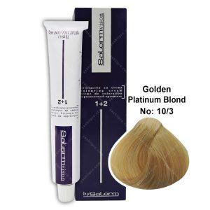 رنگ مو سالرم مدل بلوند پلاتینه طلایی شماره 10,3