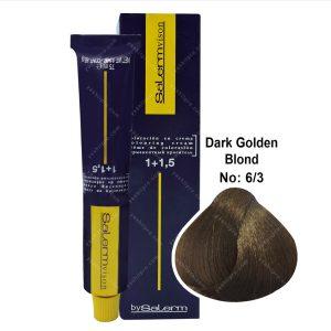 رنگ مو سالرم مدل بلوند طلایی تیره شماره 6,3