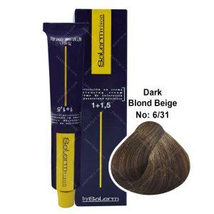 رنگ مو سالرم مدل بلوند بژ تیره شماره 6,31