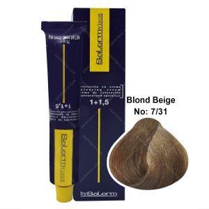 رنگ مو سالرم مدل بلوند بژ متوسط شماره 7,31