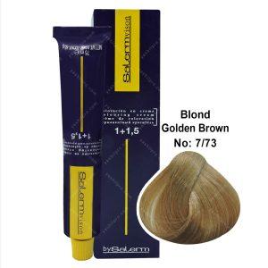 رنگ مو سالرم مدل قهوه ای طلایی بلوند متوسط شماره 7,73