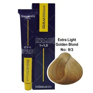 رنگ مو سالرم مدل بلوند طلایی خیلی روشن شماره 9,3
