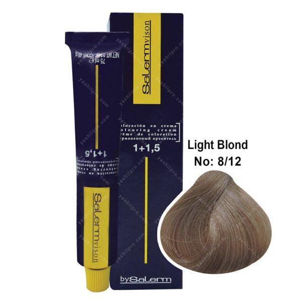 رنگ مو سالرم مدل بلوند مرواریدی روشن شماره 8,12