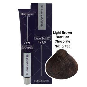 رنگ مو سالرم مدل شکلاتی برزیلی شماره 5,735