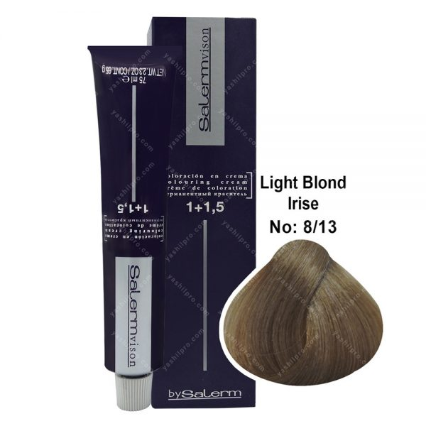 رنگ مو سالرم مدل بلوند شنی ماسه ای روشن شماره 8,13