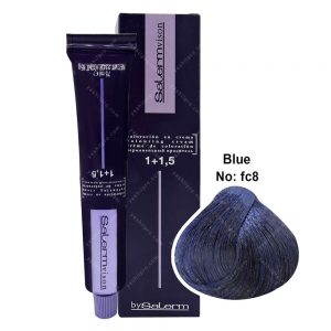 رنگ مو سالرم سری فانتزی مدل آبی شماره FC8