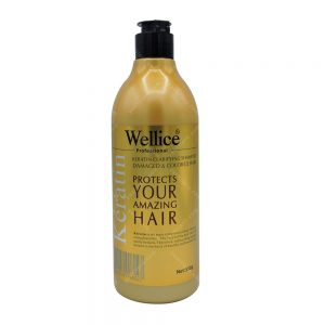 شامپو مخصوص موهای کراتین شده wellice حجم 550گرم