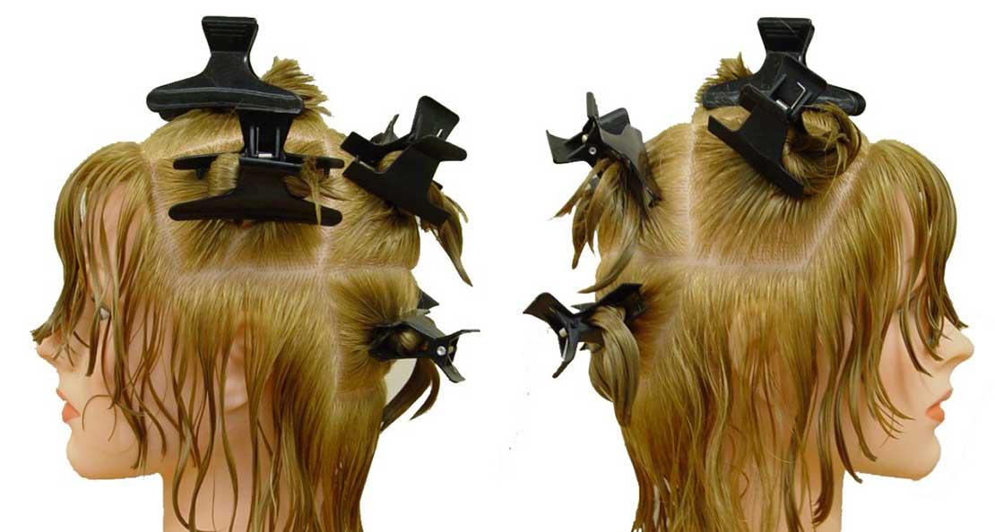 تقسیم بندی مو برای خشک کردن مو با سشوار