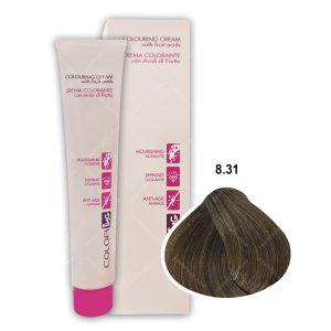 رنگ مو ING مدل بلوند روشن طالایی خاکستری شماره 8,31