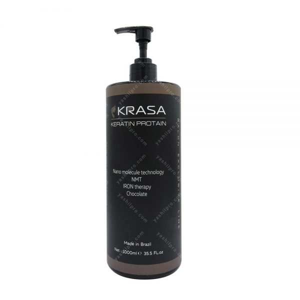 کراتین مو (مخصوص موهای شکلاتی و قهوه ای) KRASA حجم 1000میلی لیتر